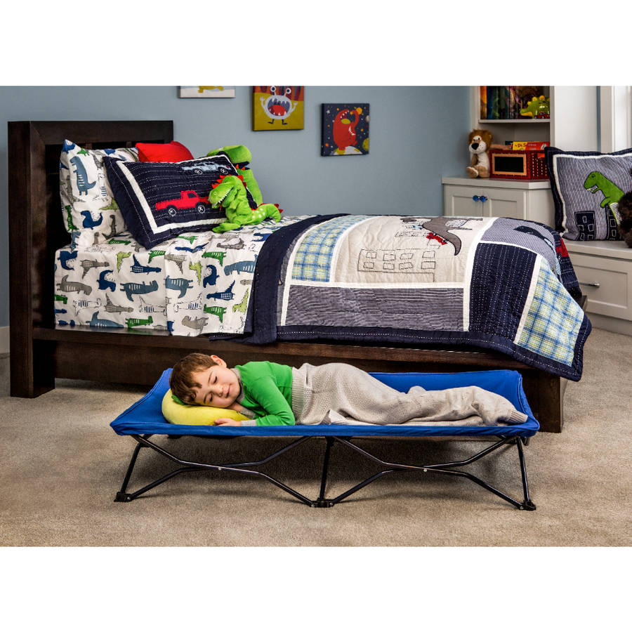 Regalo My Cot Blue Portable Folding Travel Bed with Travel Bag