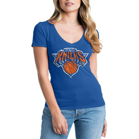 New York Knicks Womens NBA Short Sleeve Baby Jersey V-neck