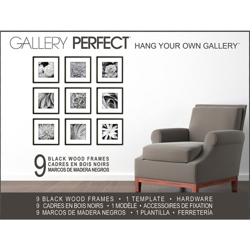 Pinnacle Frames 9 Piece Black Wood Frame Kit 12 X 12 Walmartcom
