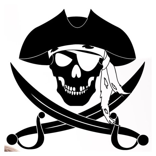 Style and Apply Pirate Wall Decal