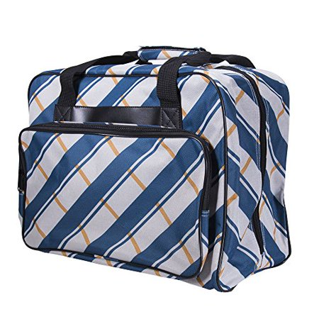 Janome blue plaid universal sewing machine tote bag for Janome memory craft 350e manual
