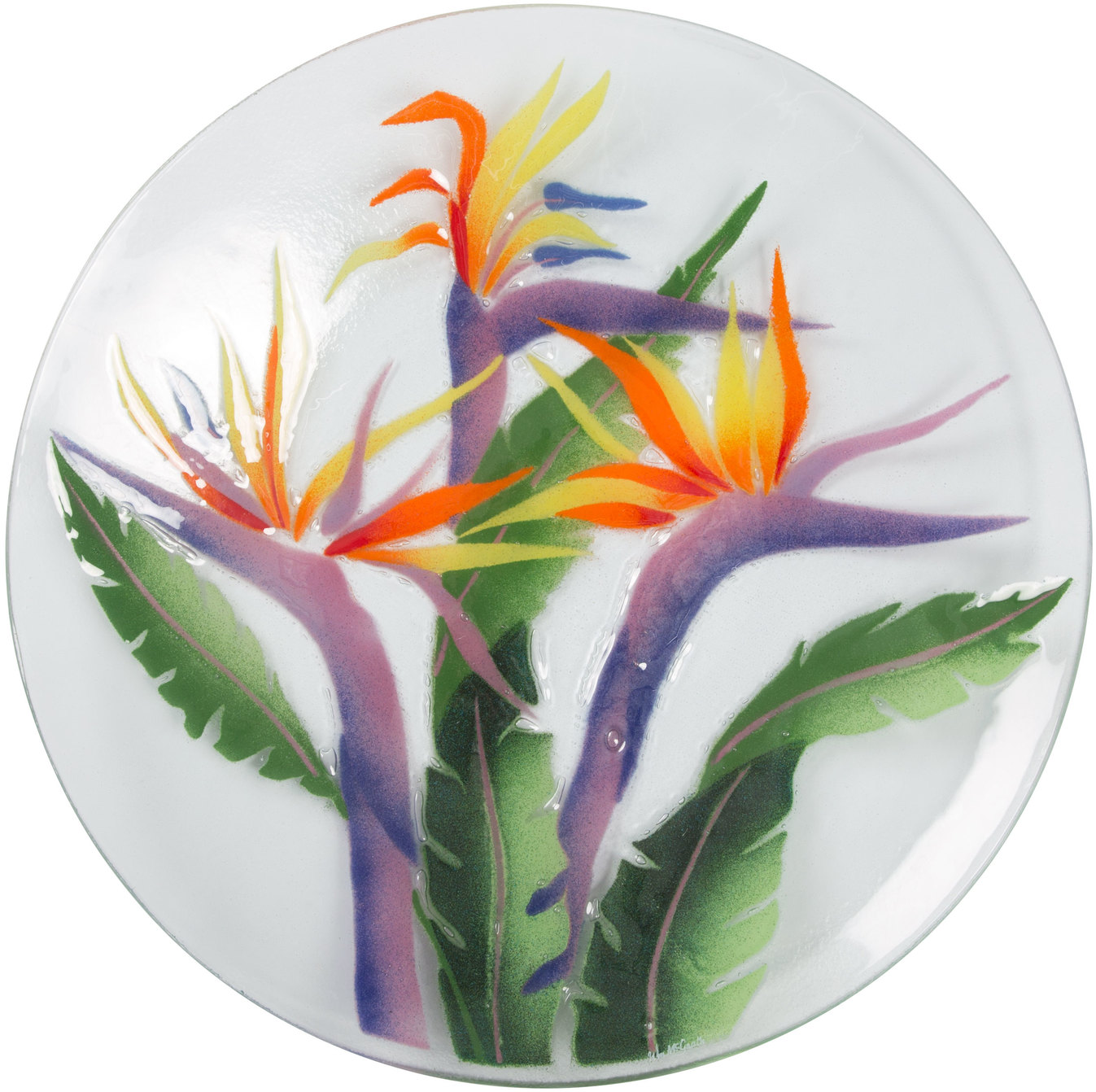 "Pavilion-  Tropical Jungle 14"" Round Serving Plate"