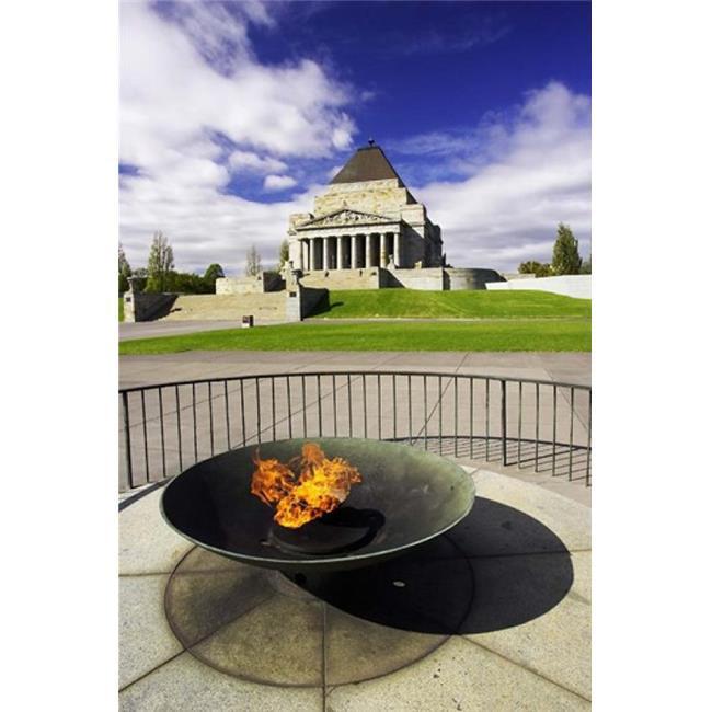 Posterazzi PDDAU01DWA1245 Eternal Flame Shrine of Rememberance Melbourne Victoria Australia Print by David Wall - image 1 of 1