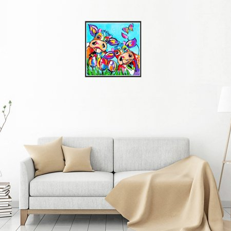 Ustyle 5D Embroidery Needlework Stitchwork Drawing Colorful Cattle Picture Rhinestone Painting Diamond Cross-stitch Needlework Decor - image 2 de 9