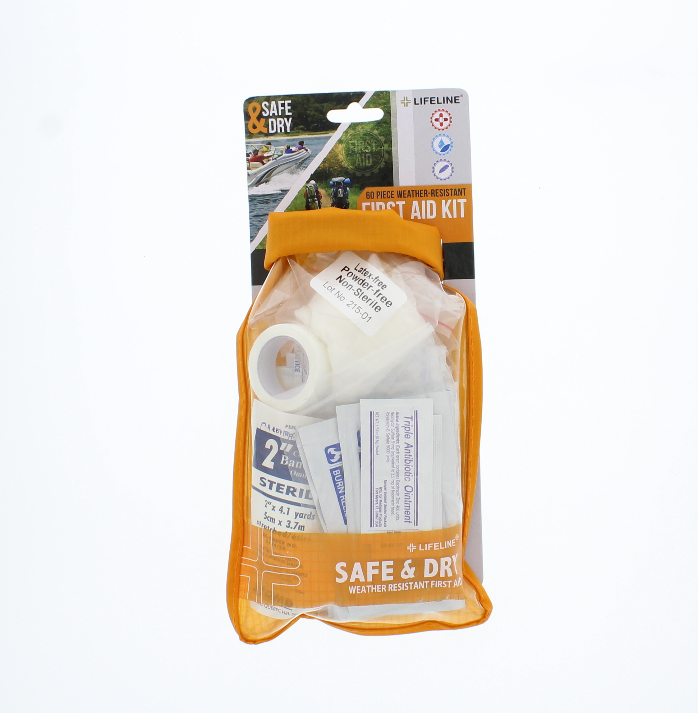 Lifeline Safe and Dry Medium First Aid 65 Pieces