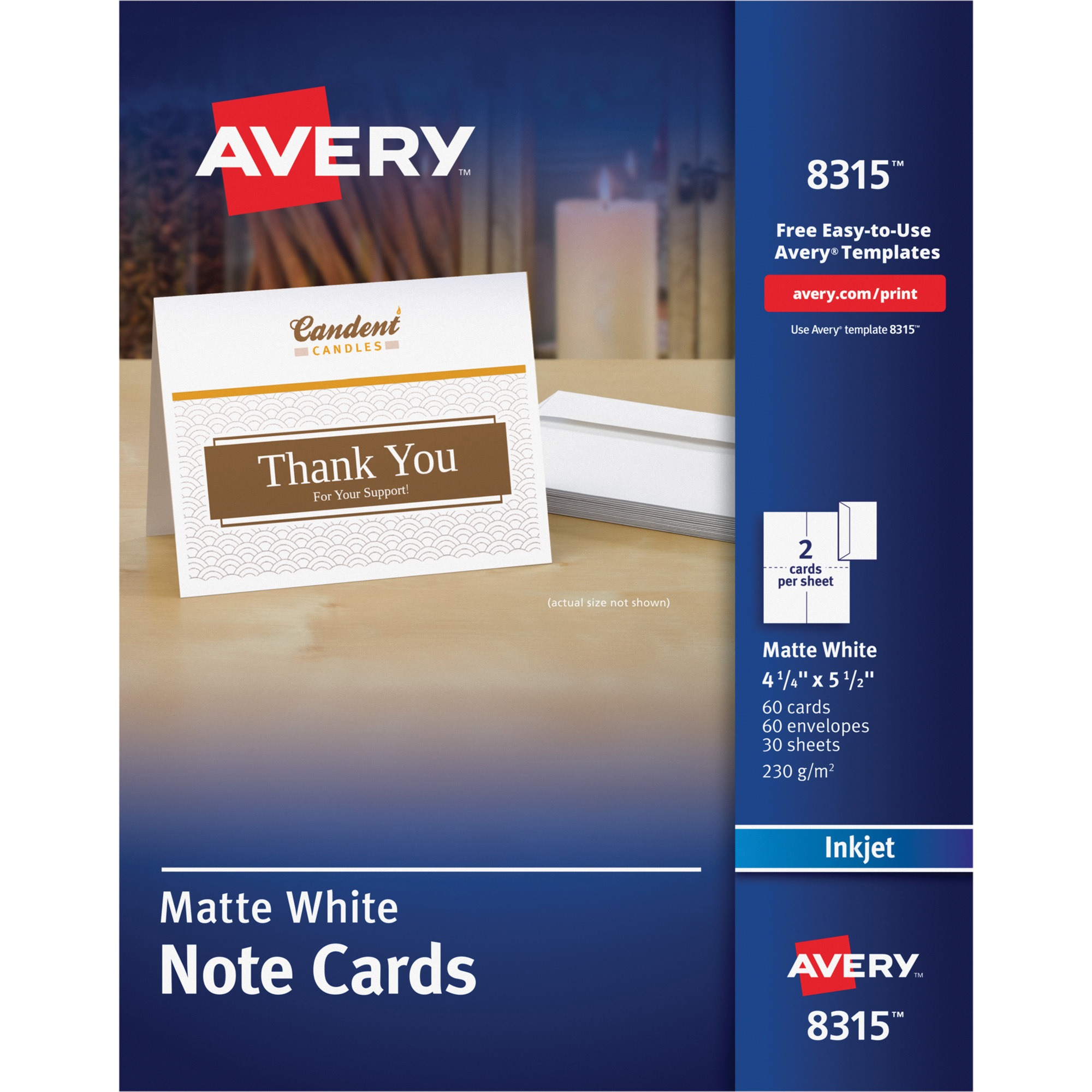 Avery note cards for inkjet printers 4 14 x 5 12 matte white 60 avery note cards for inkjet printers 4 14 x 5 12 matte white 60pack wenvelopes walmart m4hsunfo