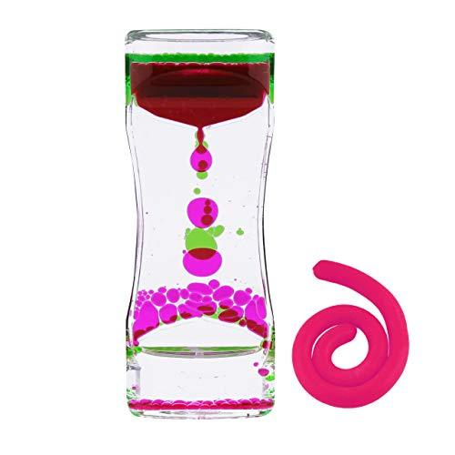 Click image to open expanded view Liquid Motion Bubbler Sensory Toys – 2 Pc Set Bundle Stretchy String Fidget Toys Timer for Stress Relief and Anxiety Relief Great for All Ages, Water Oi