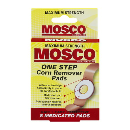(3 pack) Mosco: Maximum Strength Corn Remover Pads, 8 ct