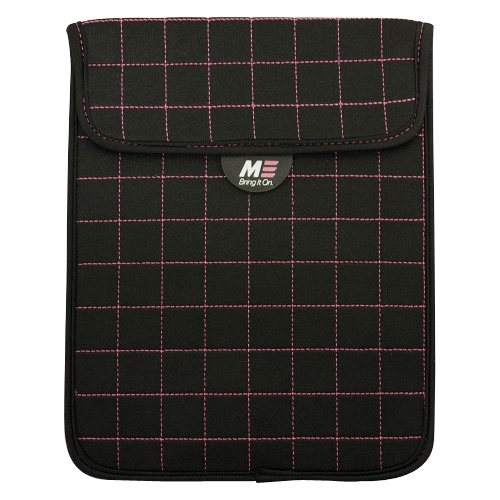 "Mobile Edge Neogrid Carrying Case (Sleeve) for 10"" iPad, Tablet PC - Black, Pink - Neoprene - 10"" Height x 8"" Width x 0.5"" Depth"
