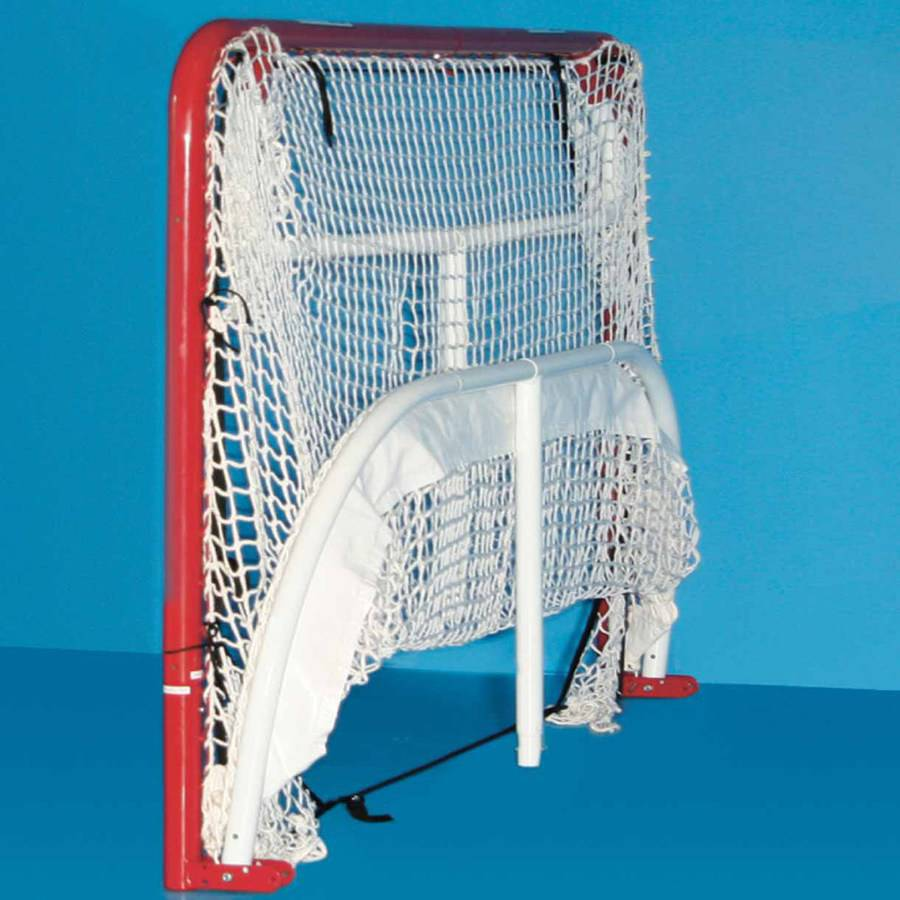 "EZgoal Monster 6' x 4'2"" Official Regulation Folding Metal Hockey Goal Net, 10' x 6' Backstop Shooter Tutor, 5 Net Pocket Targets"