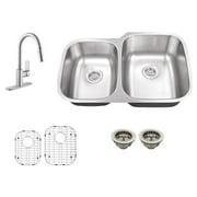 Schon SC867553 Double Basin Undermount Kitchen Sink Set