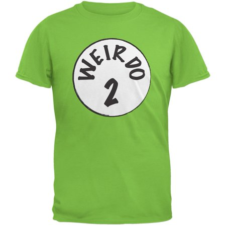 Halloween Weirdo 2 Two Lime Green Adult T-Shirt - Green Halloween Drink Names