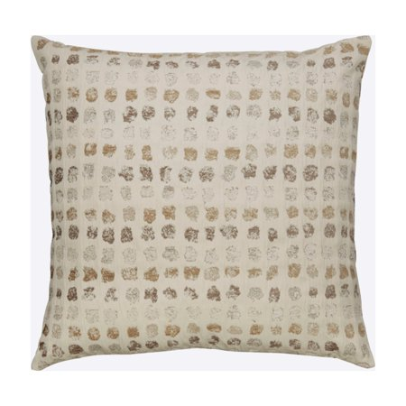 Dot Pattern Pillow in Cream and Taupe