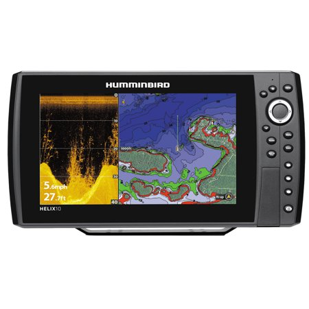 Humminbird HELIX 10 DI GPS Fishfinder Combo with Down
