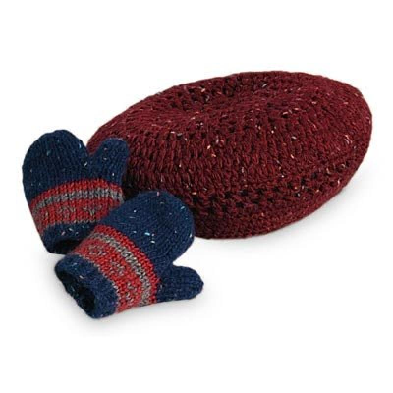 American Girl Kits Beret & Mittens for Dolls by