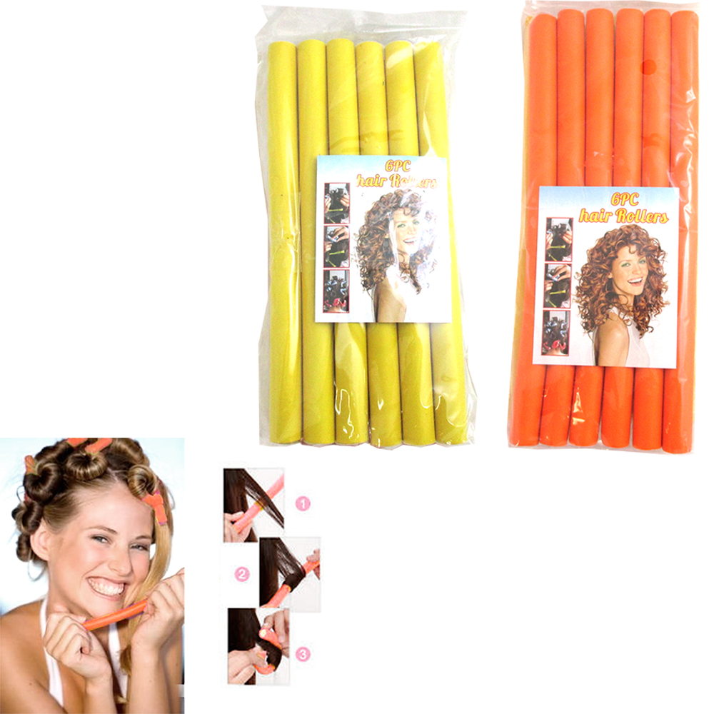 Lot 12 Hair Rollers Curlers Rubber Rod Soft Foam Twister