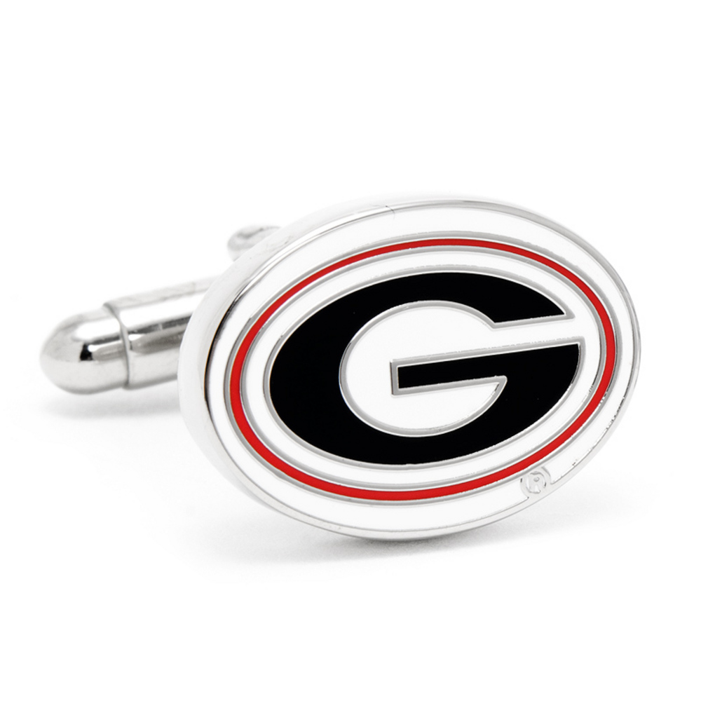 Silver Plated University of Georgia Bulldogs Cufflinks