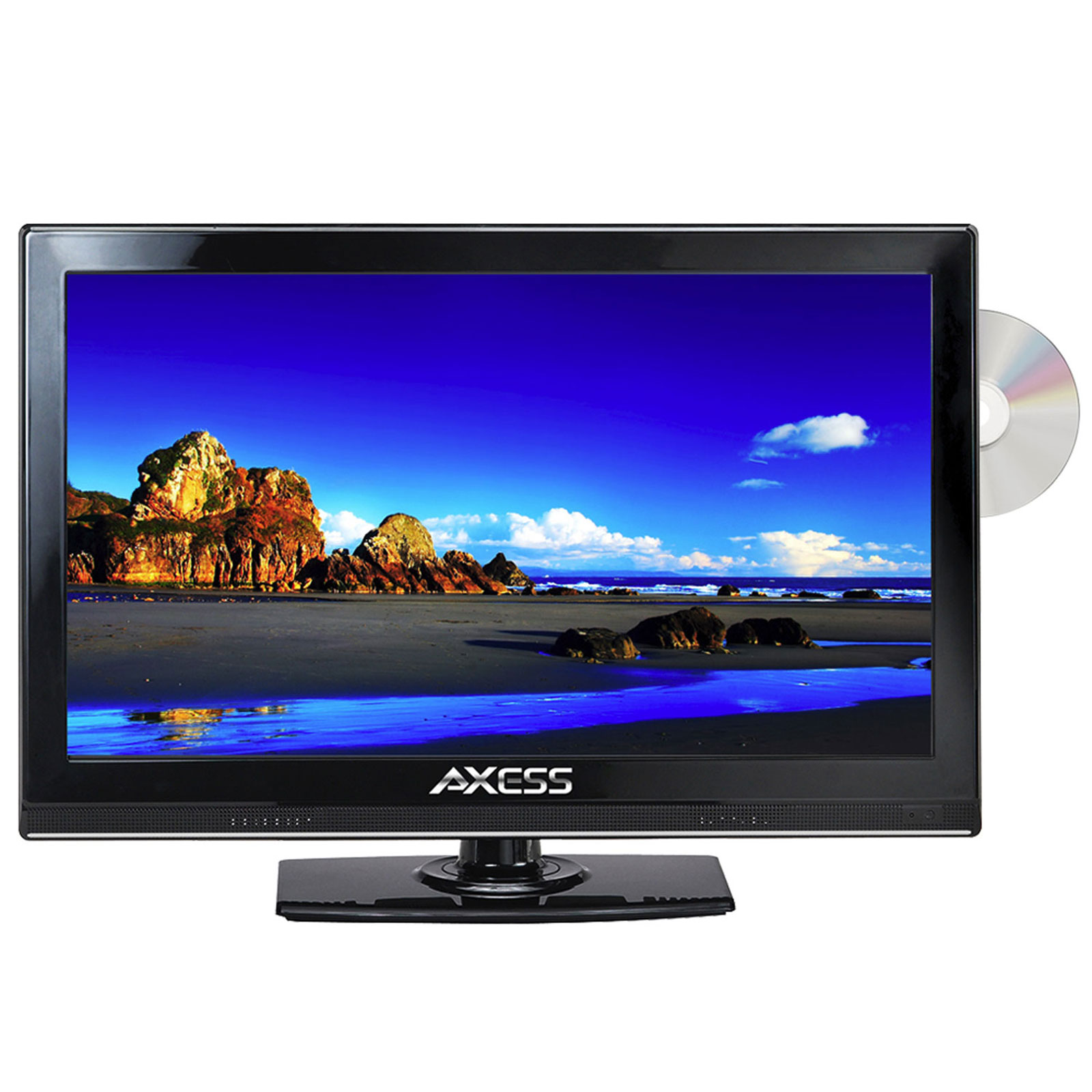 "Axess 15.4"" Class HD (720P) LED TV with Built-in DVD (TVD1801-15)"