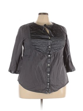 Pre-Owned Addition Elle Women's Size 22 Plus Long Sleeve Button-Down Shirt