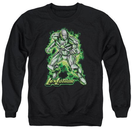 Superman DC Comics Lex Luther Kryptonite Powered Adult Crewneck Sweatshirt