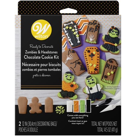 Halloween Cookies Kids (Wilton Ready-to-Decorate Zombies and Headstones Chocolate Cookie)