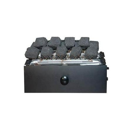 Liquid Fuel Fireplace - 16.5 in. Coal Fire Burner in Black Finish (Liquid Propane Fuel)