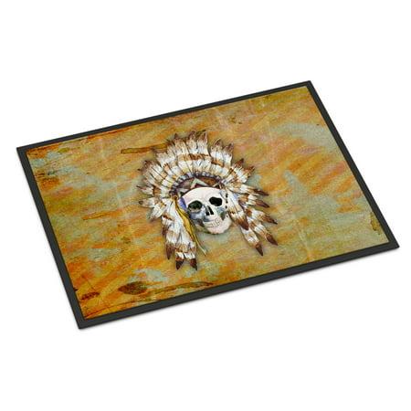 Day of the Dead Indian Skull Door Mat for $<!---->
