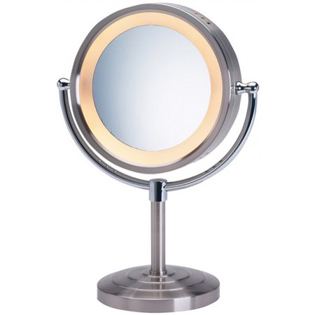 Jerdon Halo Lighted Tabletop Vanity Mirror. Jerdon Halo Lighted Tabletop Vanity Mirror   Walmart com