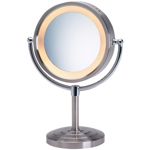 Jerdon Halo Lighted Tabletop Vanity Mirror