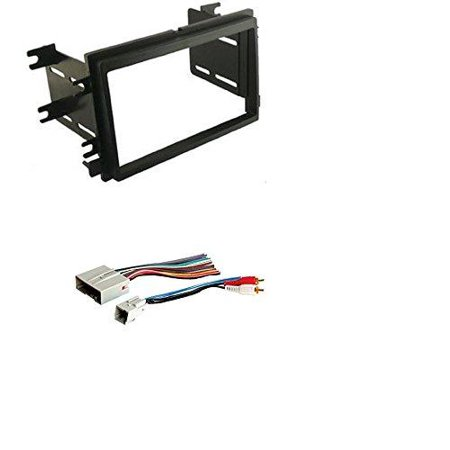 Scosche Dash Kit for 2004 - Up Ford Double Iso Din Kit With American International FWH694 Combo Wire Harness