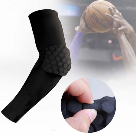 Men's Accessories Men's Arm Warmers Honeycomb Pad Crashproof Antislip Basketball Arm Hand Long Sleeve Protector Gear