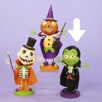 "6.25"" Green and Black Dracula Vampire Monster Halloween Tabletop Figurine"