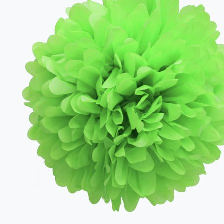 Quasimoon 20'' Light Lime Tissue Paper Pom Poms Flowers Balls, Decorations (4 Pack) by PaperLanternStore ()