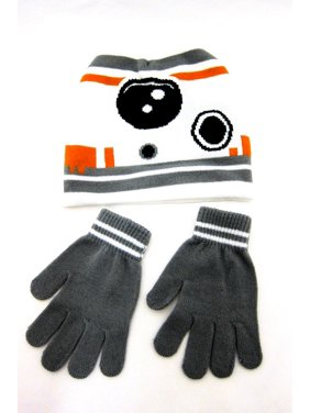 d02f817df0428 Product Image Disney Store Star Wars BB-8 Force Awakens Beanie Hat and  gloves Kids Boys