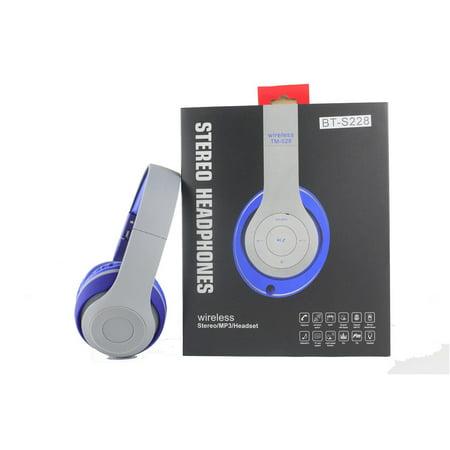 Over-the-Head Stereo Bluetooth Headsets for ZTE Blade Force,Huawei Mate 10 Lite,Kyocera DuraXV LTE,Nokia 2,BLU Vivo 8L (Blue) Nokia Bluetooth Pda