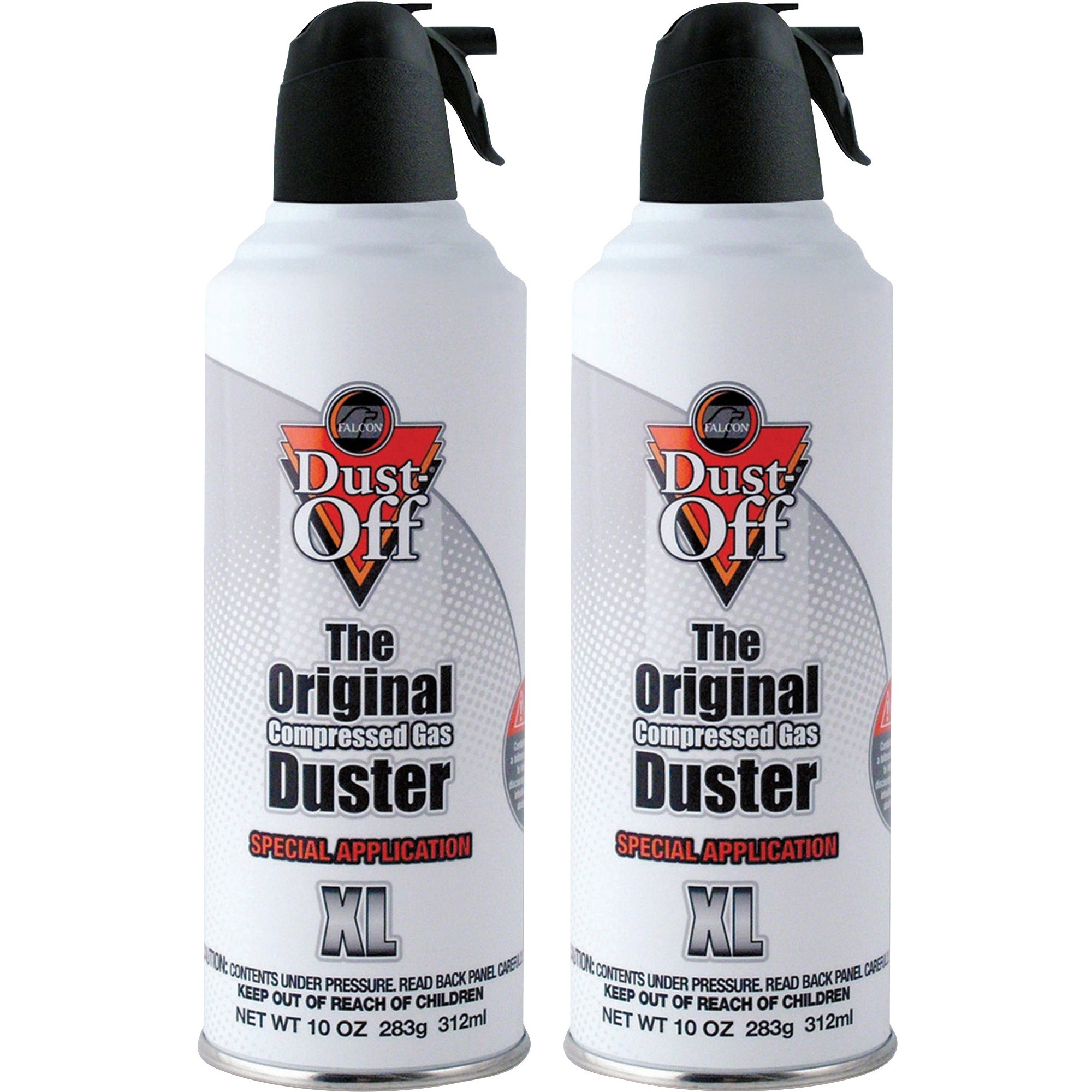 Falcon, FALDPNXL2, Dust-Off Non-flammable Air Dusters, 2 / Pack, Gray
