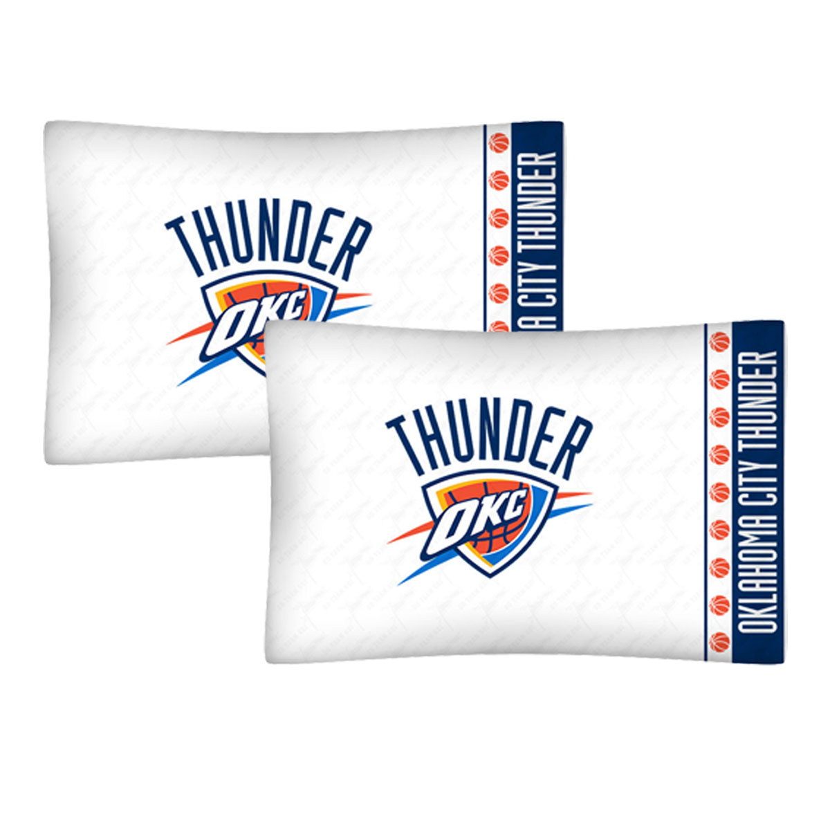 2pc NBA Oklahoma City Thunder Pillowcases Basketball Bed