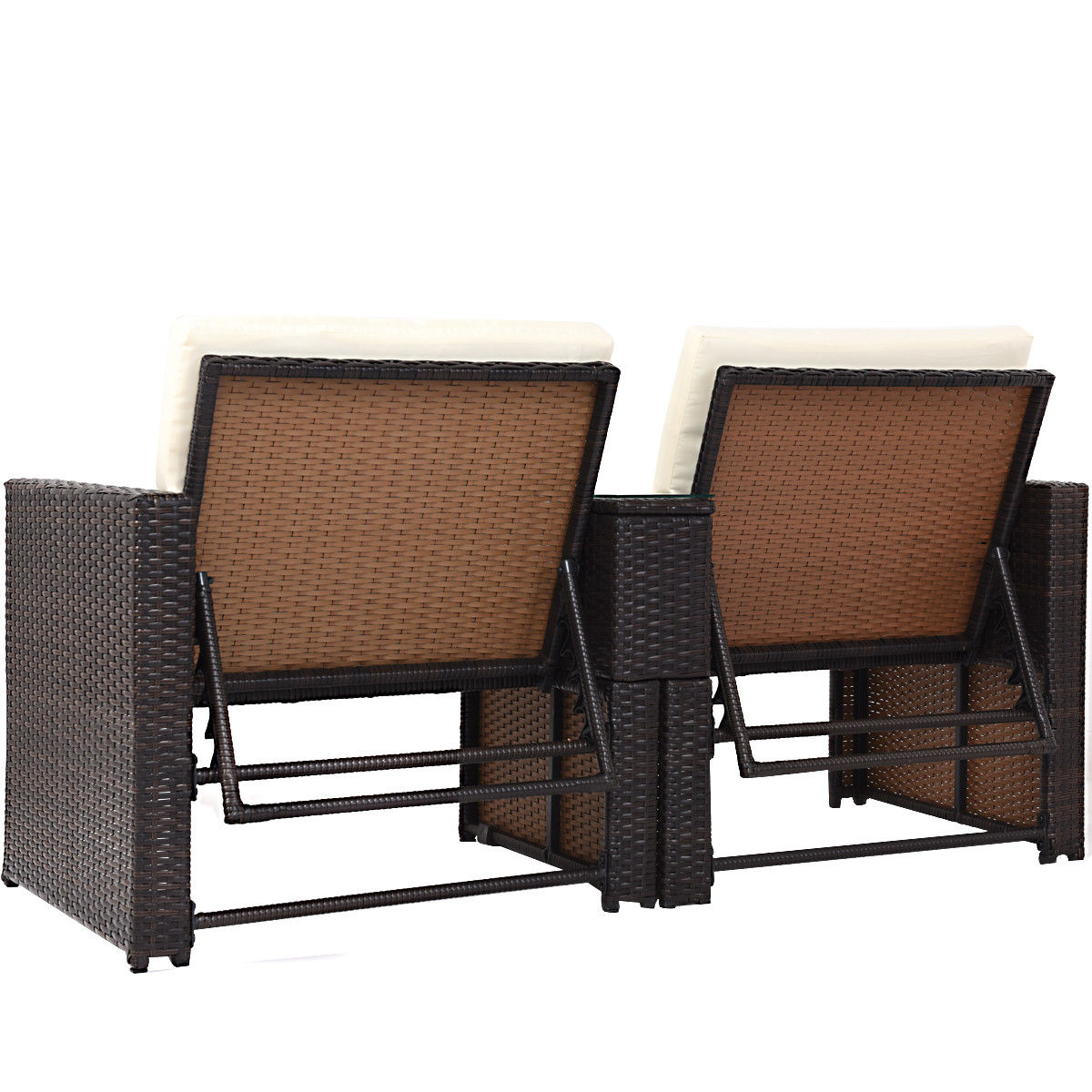 Gymax Outdoor 3 Piece Chaise Lounge Chair Set Rattan Wicker Patio Love Seat - image 1 ...  sc 1 st  Walmart Canada & Gymax Outdoor 3 Piece Chaise Lounge Chair Set Rattan Wicker Patio ...
