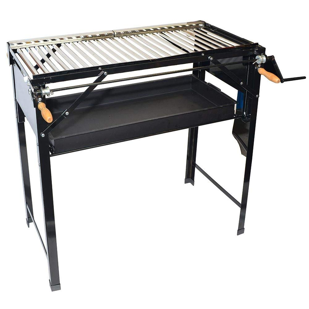 Santa Barbara Chile Roasters CRBBQ-ST Outdoor Portable BBQ Stand Grill with Carrying Case