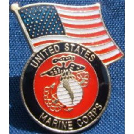 United States Flag Marine Corps Military Lapel/ Hat Pin