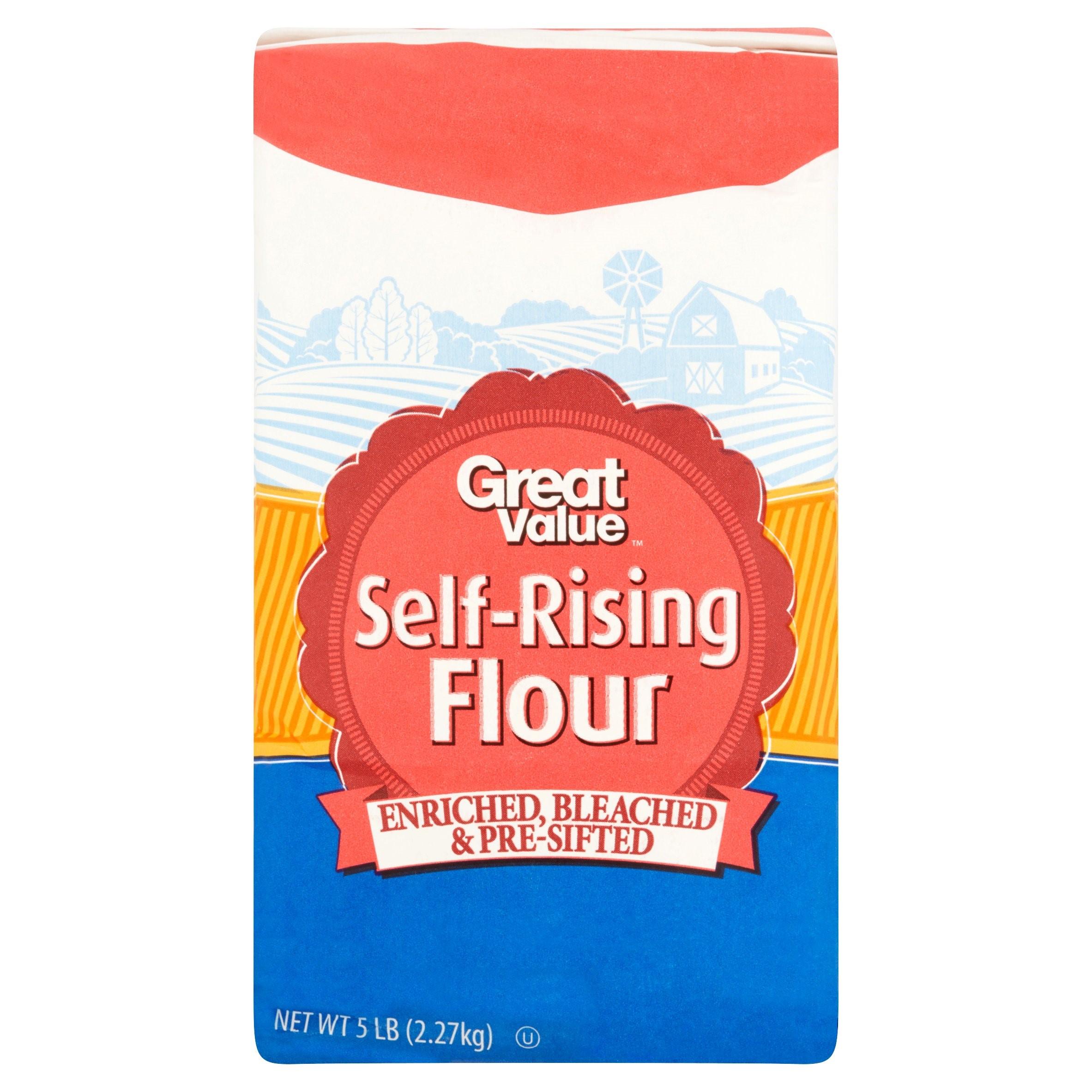 (3 Pack) Great Value Self Rising Flour, 5 lb