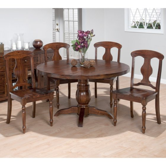 Round Dining Table For 5: Jofran Bar Harbor Round 5 Piece Dining Table Set With Wood