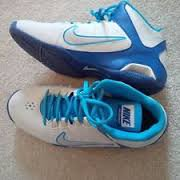 New Nike Air Visi Pro lV Size 10 Womens Basketball Shoe Blue/Grey 587562