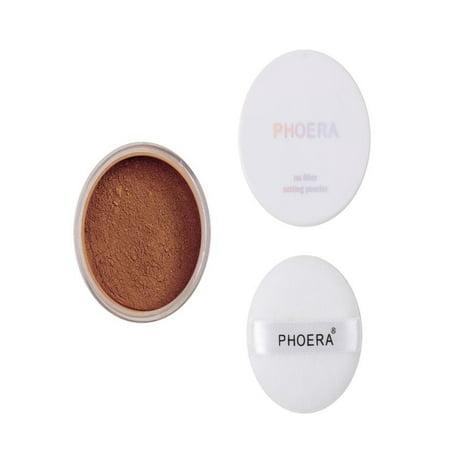 OkrayDirect PHOERA Powder Loose Face Powder Translucent Smooth Setting Foundation Makeup