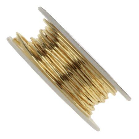 Vintaj Parawire, Solid Brass Craft Wire 16 Gauge Thick, 15 Foot Spool, Brass