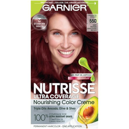 Garnier Nutrisse Ultra Coverage Nourishing Hair Color Creme, Cinnamon Whiskey 550, 1 (Best Whisky Brands For Health)