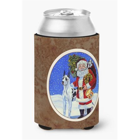 Harlequin Great Dane with Santa Claus Can or Bottle Hugger - image 1 de 1