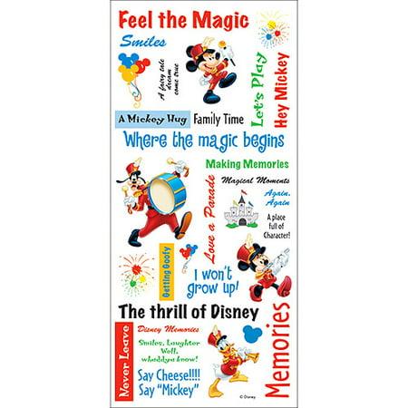Disney Stickers/Borders Packaged - Mickey Phrase Sheet