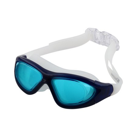 Lady Goggles - Clear Wide Vision Anti Fog Adjustable Belt Swim Glasses Swimming Goggles w Storage Case for Adult Men Women