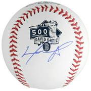 David Ortiz Boston Red Sox Autographed 500th Home Run Logo Baseball